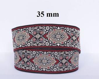 Medieval/oriental braid embroidered jacquard width 35 mm