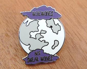 Werewolves Not Swear Wolves- What we do in the shadows hard enamel pin