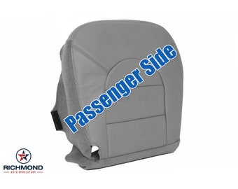 1999 2000 Ford F-250 F-350 Lariat Leather Seat Cover: Passenger Side Bottom Gray