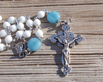 Rosary beads, catholic rosary beads,rosaries,first communion gift,five decade rosary,gemstone rosary, prayer beads, crystal rosary, crucifix