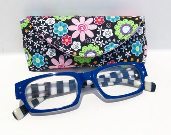 Eyeglass Case - Sunglass Case - Magnetic Clasp - Gift for Mom - Gift for Readers - Gifts Under 15 - Fun Florals - Floral - Glasses Case
