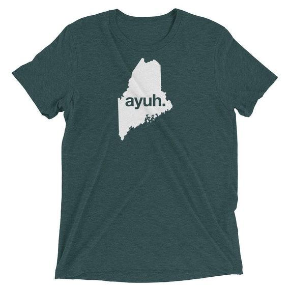 Ayuh, the Maine Word - Short sleeve t-shirt