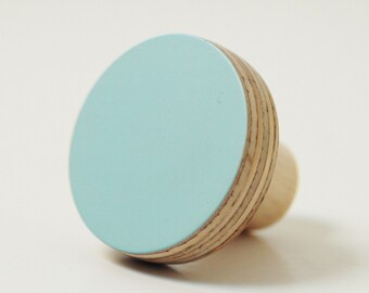 Wooden knobs blue color