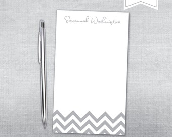 Chevron Personalized Notepad.