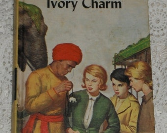 Vintage Nancy Drew Mystery Stories The Mystery of the Ivory Charm by Carolyn Keene book 13