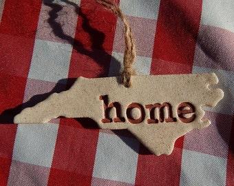 North Carolina Home Ornament,  Christmas Ornament