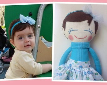 girl doll, personalized doll, personalized rag doll, personalized girl gifts, personalized handmade doll, personalized girls, rag doll