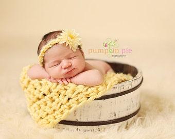Buttercup Newborn Baby Blanket Photo Prop