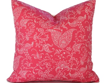 Orange Pillow Covers ANY SIZE Decorative Pillow Cover Pink Pillow Premier Prints Small Paisley Candy Pink
