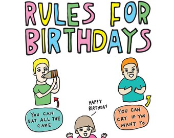 Birthday Card - Rules For Birthdays