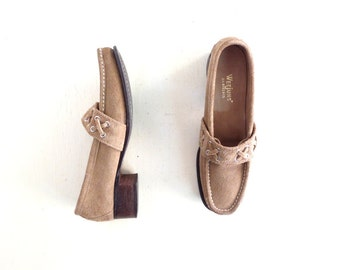 Vintage Bass Weejuns | 1960s Loafers | 60s Shoes | Suede Loafers | Size 7 1/2