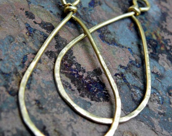 Brass Teardrops, natural or antiqued, handmade findings, PurpleLilyDesigns