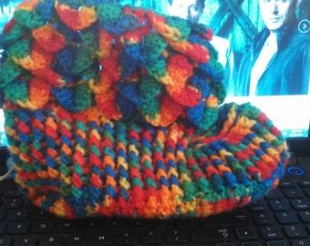 rainbow tye dye crocodile stitch slippers