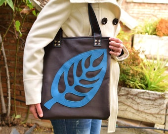 Leather bag,brown bag,leather purse,brown leather tote,brown leather bag,tote bag,leather purse,leaves bag,brown bag,leaf bag,unique bag