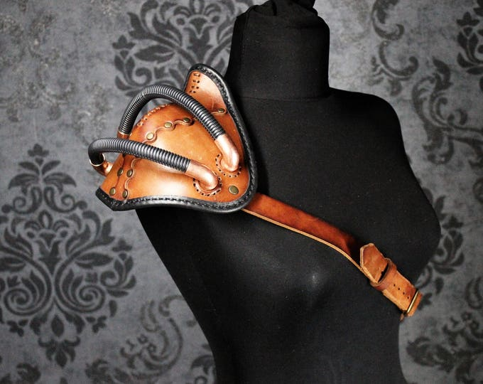 Steampunk Armor - Shoulder Armor - Leather Pauldron