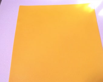 Yellow Faux Leather Sheet - DIY - Vinyl sheet - Hair Bows - Headbands - Hair Clips - Embroidery, Journal Covers, Jewelry, coin purses