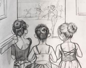 """Original sketch """"The Older Girls"""""""