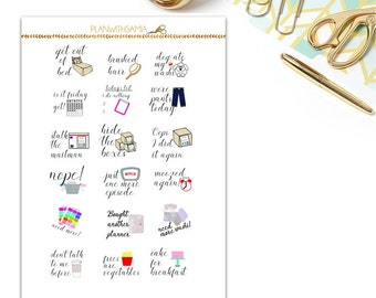Words and Phrases 2 - Printable Planner Stickers