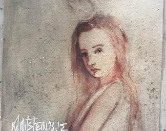 canvas print of my original painting...a real princess