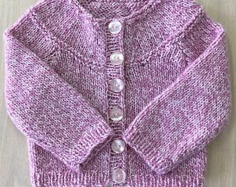 Raglan jacket / baby girl/0-6 months/pink