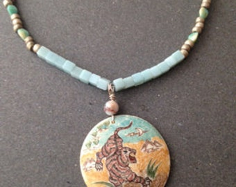 Chinese Zodiak Year of the Tiger Necklace