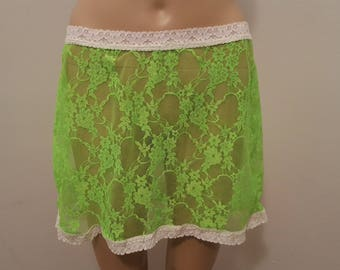 Barely There Bare Essentials Atomic Lace Above Knee Skirt with Lace Trim