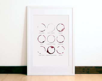 Red Wine Print - Wine Lover Gift - Red Wine Gift - Wine Wall Decor