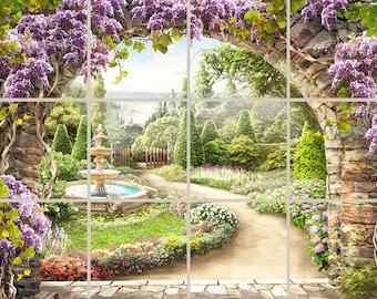 Garden Path Decorative Tile Mural Ceramic Back Splash Custom Design