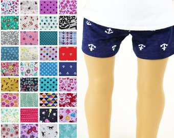 Fits like American Girl Doll Clothes - Knit Shorts, You Choose Print | 18 Inch Doll Clothes