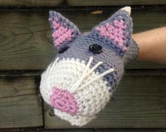 Cat Crochet Hand Puppet