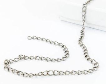 Antique Silver, 4mm Curb Chain CC142