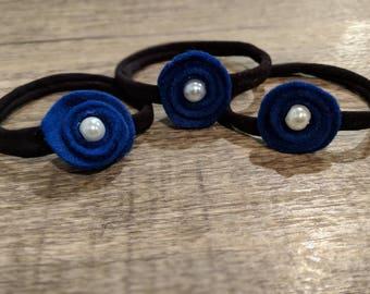 Felt Flower Hair Tie