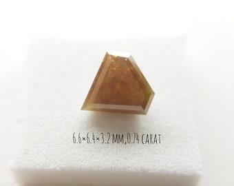 Natural Reddish Diamonds - Diamonds Shape Cut Loose 0.74 carat Diamond 6.6 x 6.4 x 3.2 MM Size