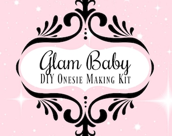 Diy onesie kit etsy glam baby decals custom onesie making kit diy baby shower solutioingenieria Images