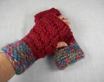 Wrist Warmers, Hand Knit Wrist Warmers, Hand Knit Fingerless Gloves, Hand Knit Fingerless Mittens, Texting Gloves, Texting Mittens