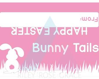 easter bunny tails printable bag tag // easter treats tag // easter party favour tag // bunny tails tag //  easter tag