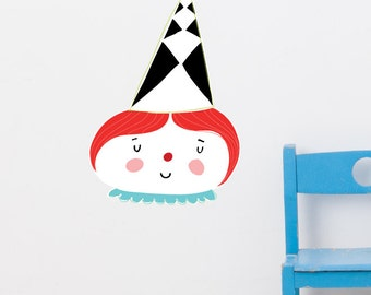 Candy Clown Removable Wall Sticker