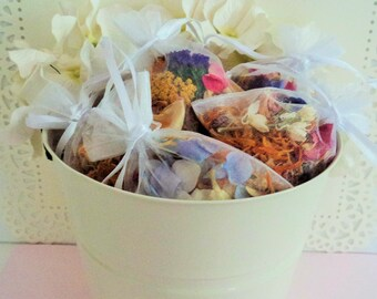 WILDFLOWER FAVORS, Wedding Favors, for flower confetti or keepsakes, hand decorated, beautiful favors, for fairy tale endings