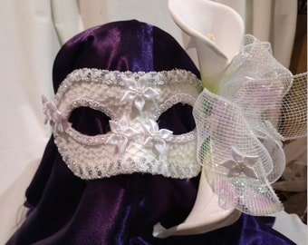 hand crafted, one of a kind bridal mask