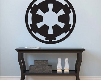 Imperial Logo Wall Decal, Star Wars Wall Decal, Star Wars Wall Mural, Imperial Wall Vinyl Removable Star Wars Wall Vinyl Decal Art, g65