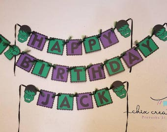 Hulk birthday banner