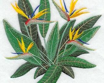 Bird of Paradise Embroidered Flour Sack Hand/Dish Towel