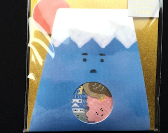 Mount Fuji  Stickers  - Chiyogami Paper Sticker Flakes - 50 Stickers  (S262)