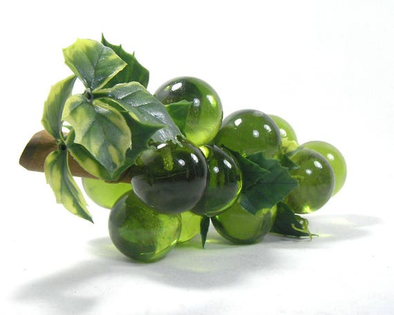 Vintage Green Lucite Grapes