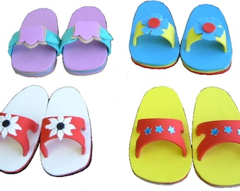 Foam Sandals Pattern for many doll sizes - make your own adorable sandals!