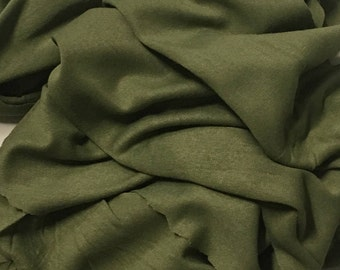 Bamboo Jersey Knit Fabric made in USA  ecofriendly light weight jersey 100% bamboo Army Grenn 2.5 yards
