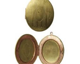 12 pcs Vintage Fancy Oval Locket - 48mm x 38mm,  LOC48X38F,