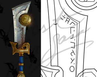 Ashbringer - Legion Artifact Sword [World of Warcraft] - Cosplay PDF Vector Pattern Blueprint