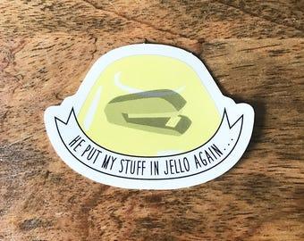 Jello Stapler - Dwight Schrute The Office Vinyl Sticker