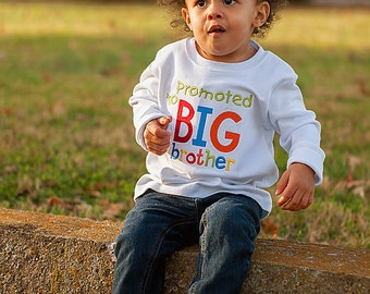 Promoted To Big Brother Shirt-Pregnancy Announcement-Big Brother Shirts-Big Brother to Be-Big Bro-Matching Sibling Shirts-Pregnancy Reveal